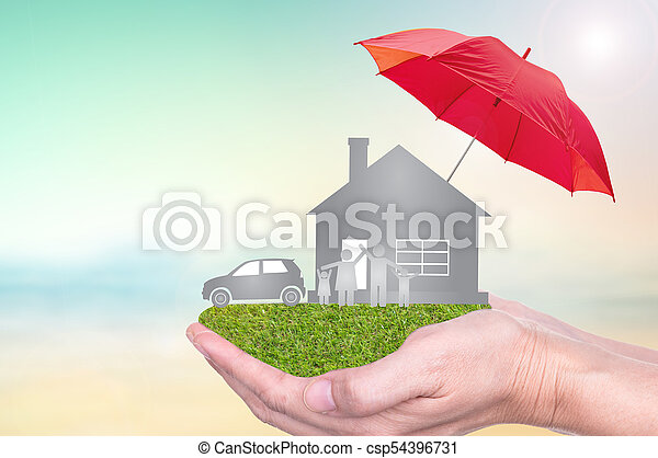 insurance to protection by umbrella - csp54396731