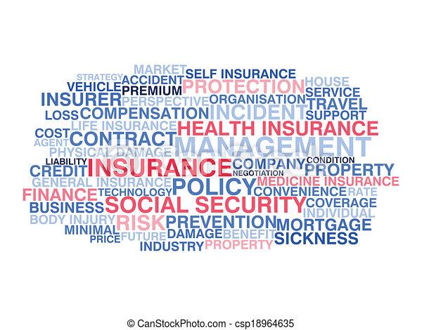 Insurance. Word cloud concept - csp18964635