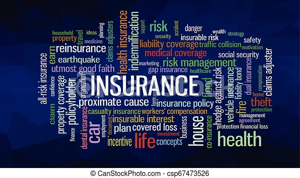 Insurance Word Cloud concept illustration - csp67473526