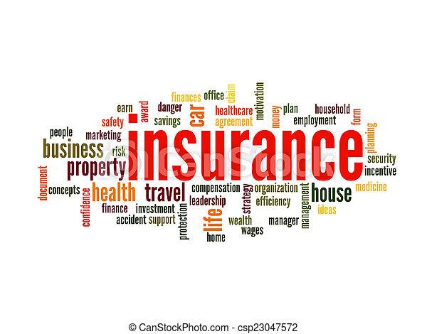 Insurance Word Cloud Concept - csp23047572