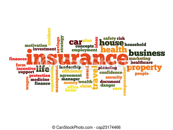 Insurance Word Cloud Concept - csp23174466