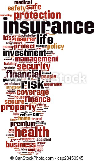 Insurance word cloud - csp23450345
