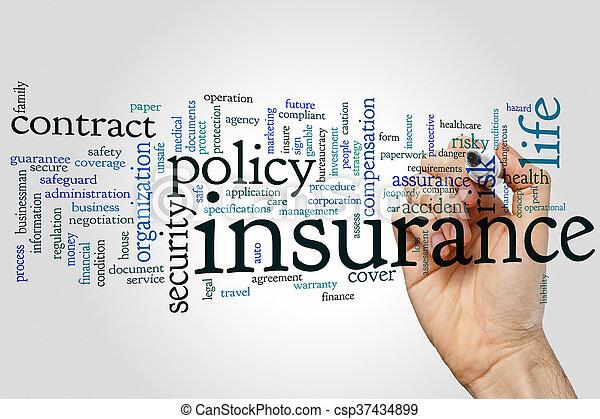 Insurance word cloud - csp37434899