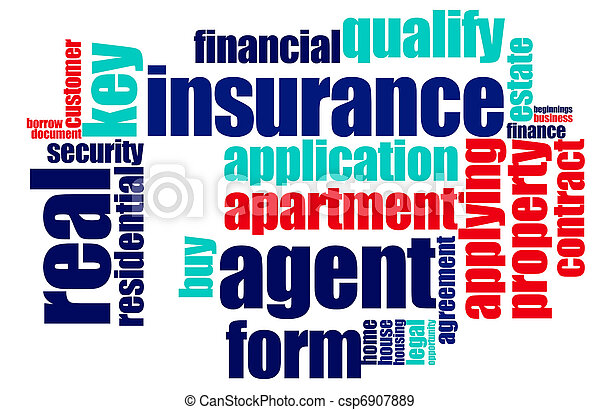 Insurance word cloud - csp6907889