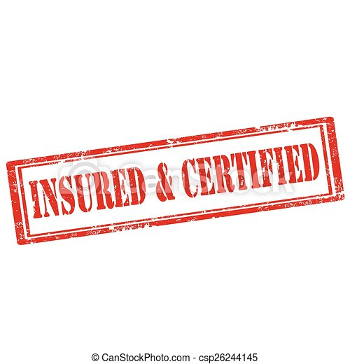 Insured & Certified-stamp - csp26244145