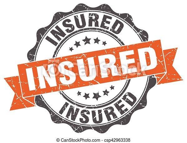 insured stamp. sign. seal - csp42963338