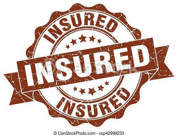 insured stamp. sign. seal - csp42999233