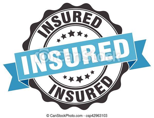 insured stamp. sign. seal - csp42963103