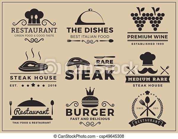 insygnia, kuchnia, restauracja, logo - csp49645308