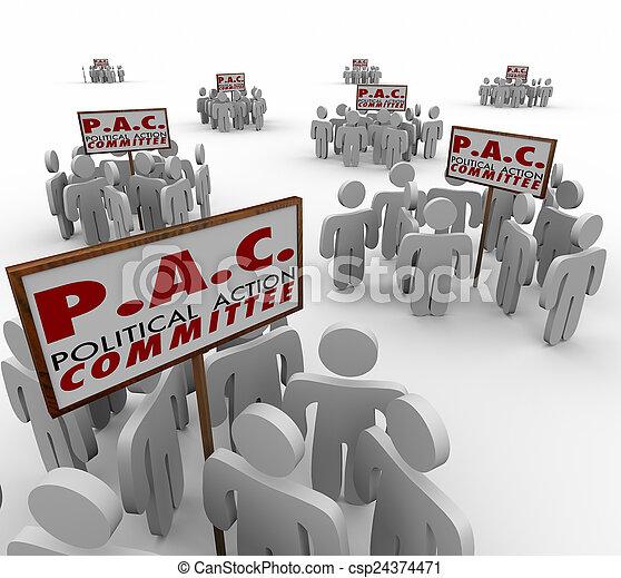 intérêt, groupes, lobbyiste, politique, p, pac, committe, action, spécial - csp24374471