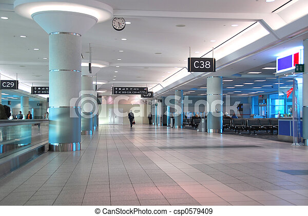 intérieur, aéroport - csp0579409