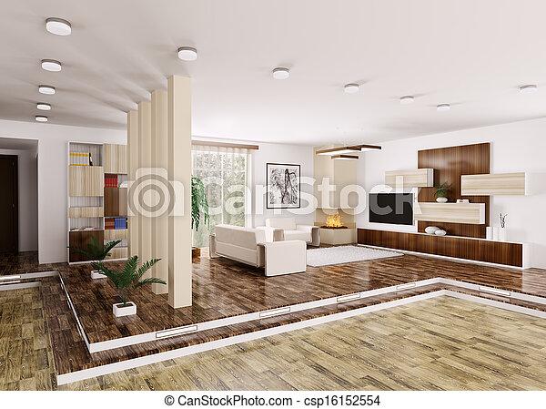 Intérieur, Appartement, Moderne, 3d   Csp16152554