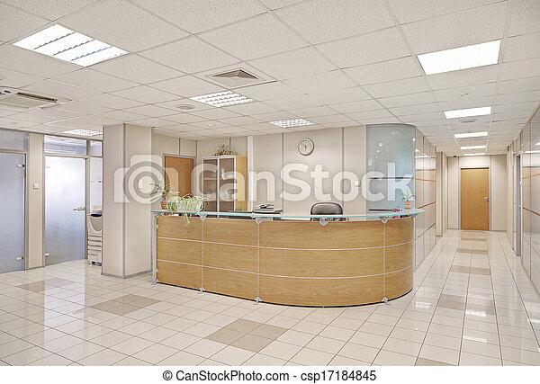 intérieur bâtiment, commun, bureau - csp17184845