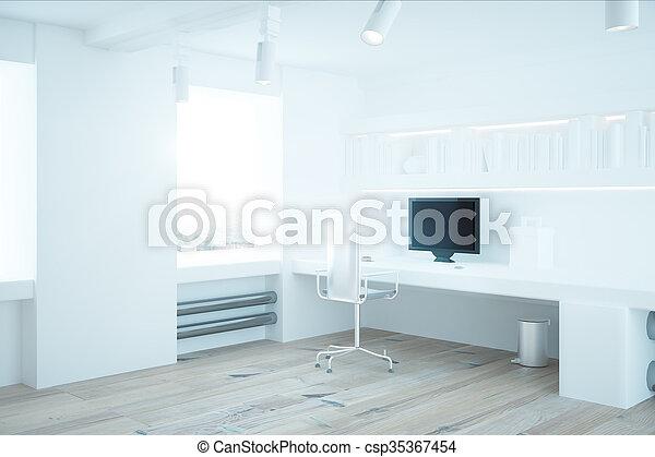 intérieur, blanc, bureau - csp35367454