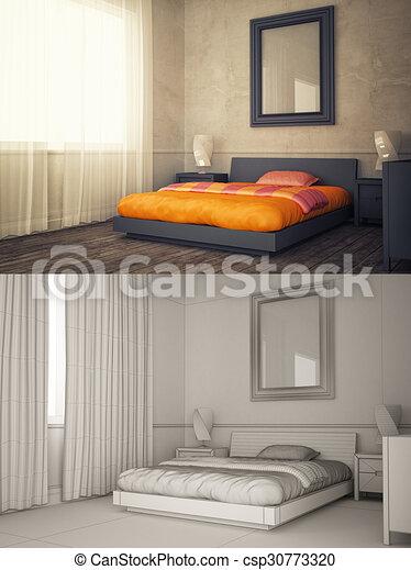 Interieur Cadre Maquette Chambre A Coucher Texturized Fil Maquette Affiche Cadre Version Interieur Maison Canstock