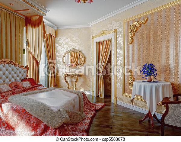 Int rieur chambre coucher style moderne 3d for Interieur de chambre a coucher