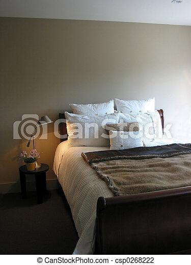 intérieur, chambre à coucher - csp0268222