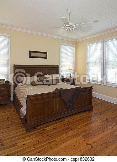 intérieur, chambre à coucher - csp1832632