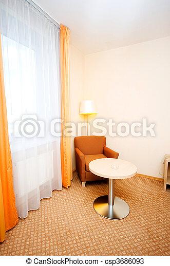 intérieur, chambre hôtel - csp3686093