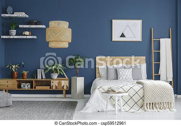 intérieur, confortable, chambre à coucher - csp59512961