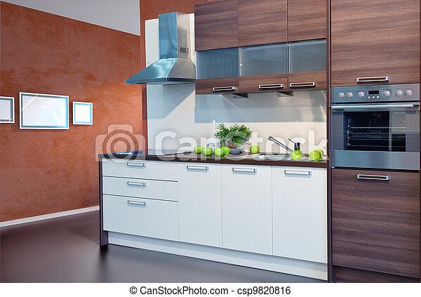 intérieur, cuisine - csp9820816