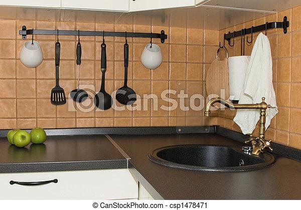 intérieur, cuisine - csp1478471