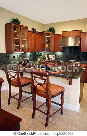 intérieur, cuisine - csp0220968