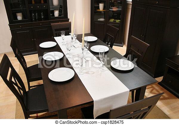 intérieur, dîner, 2, salle - csp1828475