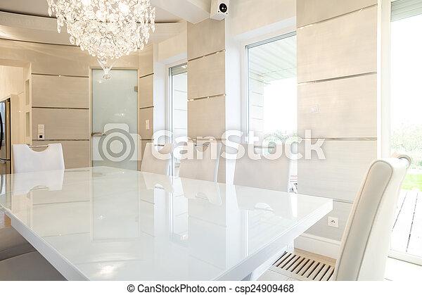 intérieur, dîner, clair, salle - csp24909468