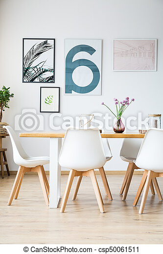 intérieur, dîner, salle moderne - csp50061511