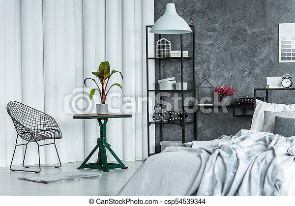 Intérieur, Fauteuil, Moderne, Chambre À Coucher