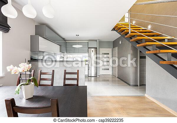 Intérieur, Fonctionnel, Villa, Escalier, Idée