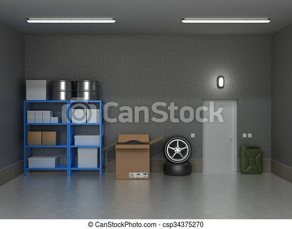 int rieur garage suburbain roues boxes. Black Bedroom Furniture Sets. Home Design Ideas
