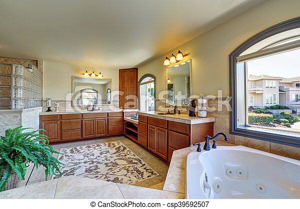 Interieur Grand House Salle Bains Luxe Grand Cabinets Usa