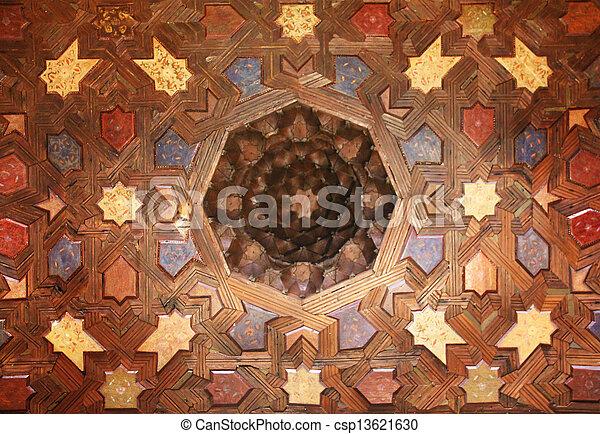intérieur, grenade, palais, alhambra, espagne - csp13621630