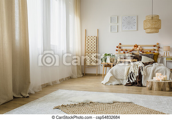 Int rieur hygge style chambre coucher brun style for Interieur hygge