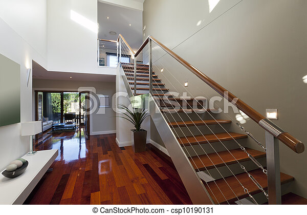 escalier interieur maison moderne