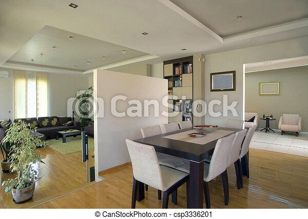 intérieur, maison, moderne - csp3336201
