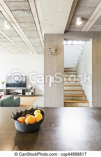 Intérieur, maison, moderne, luxe. Vertical, maison, moderne, -, luxe ...