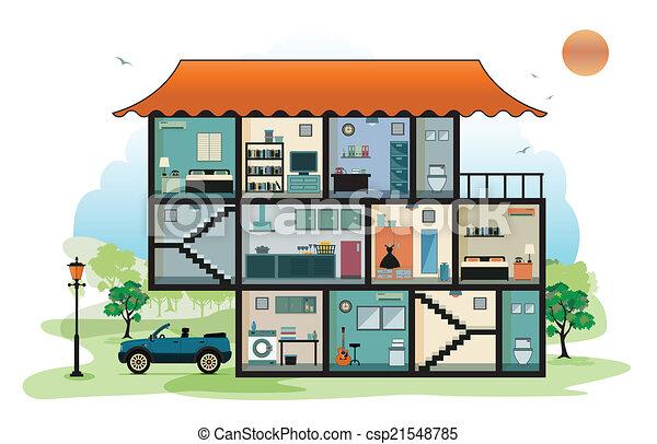 intérieur, maison - csp21548785