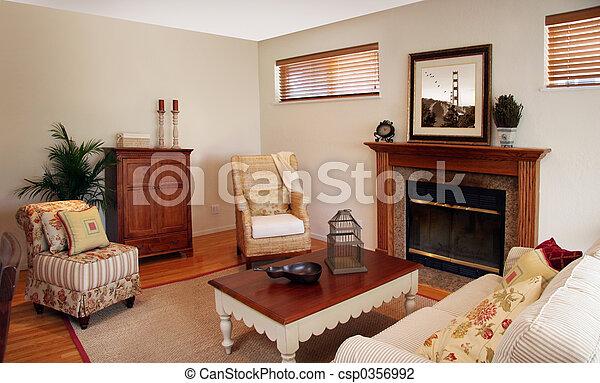 intérieur, mode, vieux - csp0356992