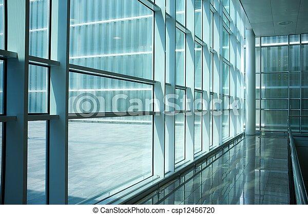 intérieur, moderne, bâtiment. - csp12456720