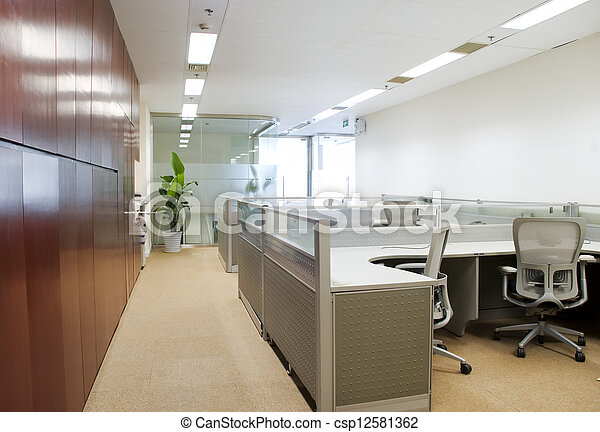 intérieur, moderne, bureau - csp12581362