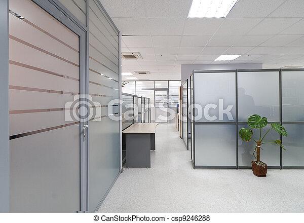 intérieur, moderne, bureau - csp9246288