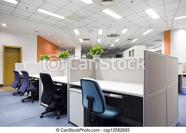 intérieur, moderne, bureau - csp12582693