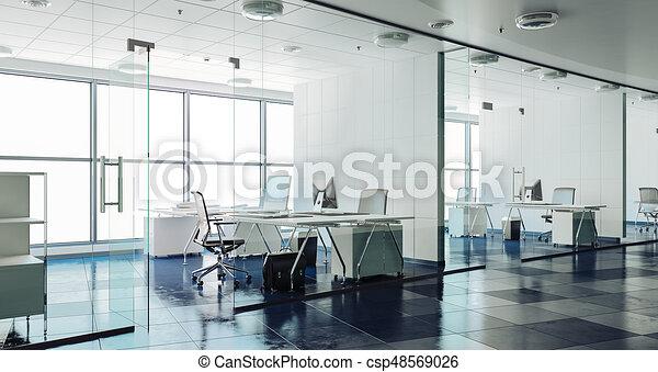 Intérieur moderne bureau render d