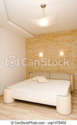intérieur, moderne, chambre à coucher - csp1478404