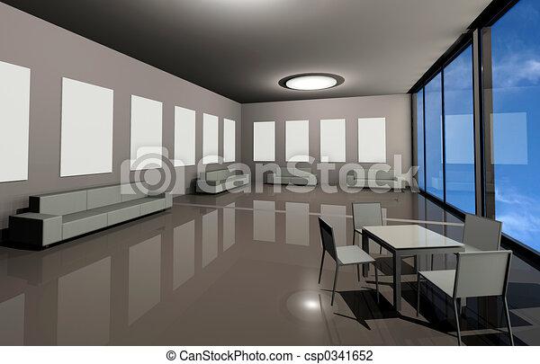 intérieur, moderne - csp0341652