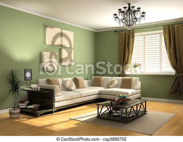 intérieur, moderne - csp3889702