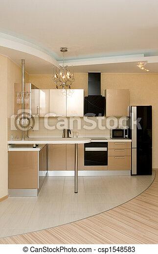 intérieur, moderne, cuisine - csp1548583